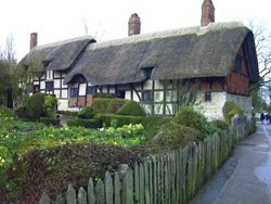 The Hathaway family cottage in Shottery, photographed by the author in 2001. (Credit: J. M. Pressley)