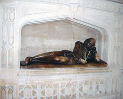 The Shakespeare Memorial at Southwark Cathedral, London. Not every English playwright gets this kind of treatment.  (Credit: John Armagh, Wikimedia Commons)